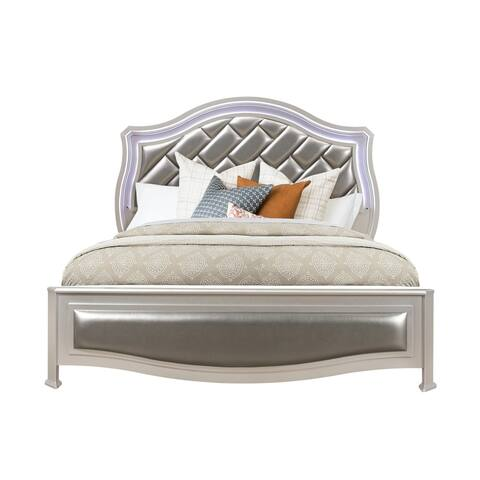 Global Furniture USA Silver Metallic Remi Queen Bed