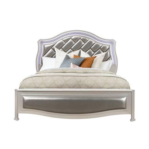 Global Furniture USA Silver Metallic Remi King Bed