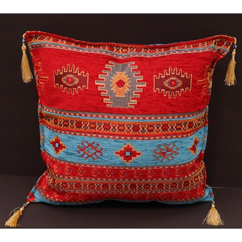 Anatolian Aster Chenille Turkish Decorative Pillow