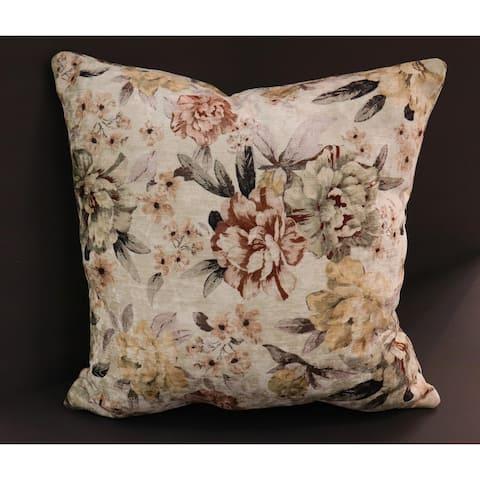 Endine Pansy Velvet Turkish Pillow