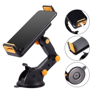 universal car mount holder for phone / tablet with quick lock and releae