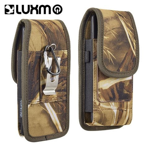 Universal special fabric Military Camo belt holster vertical case pouch with interal credit card slots