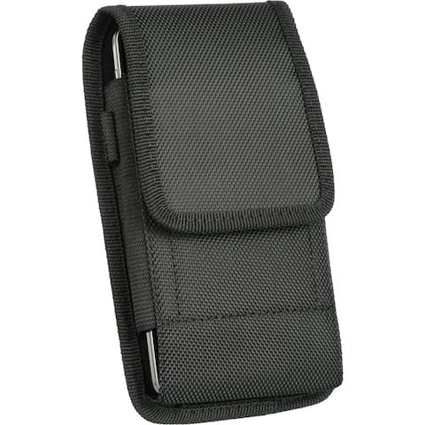 Vertical Universal Nylon Cell Phone Holster Carrying Case with Belt Loop