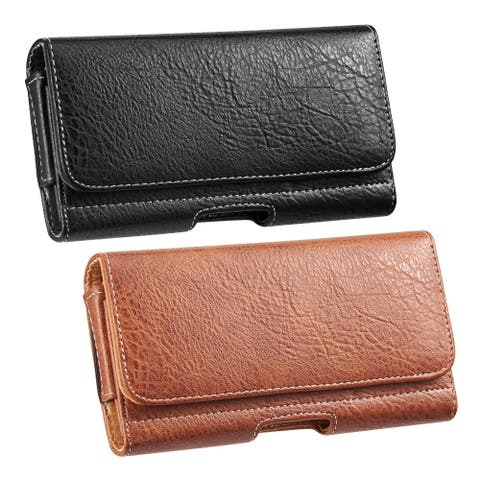 Universal Beltclip Embossed Leather Cellphone Pouch