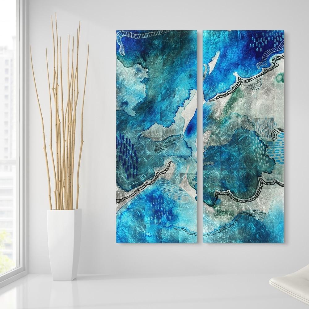 Abstract artglass wall hangingfused glass artblue glassglass treesfused glass wall panelabstract wall artglass wall arthome decor