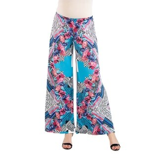 Multicolor Floral Maternity Palazzo Pants