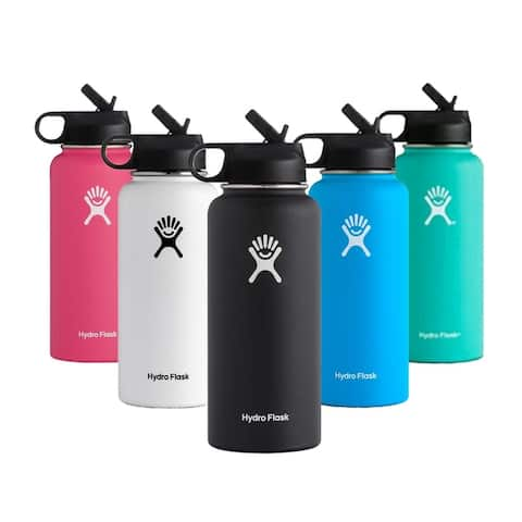 Hydro Flask 32 oz Stainless Steel Water Bottle with Straw Lid - 3.6*3.6*9.1