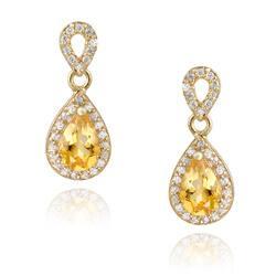 Glitzy Rocks 18k Gold over Silver Citrine and CZ Teardrop Earrings https://ak1.ostkcdn.com/images/products/3122475/Glitzy-Rocks-18k-Gold-over-Silver-Citrine-and-CZ-Teardrop-Earrings-P11250478.jpg?impolicy=medium