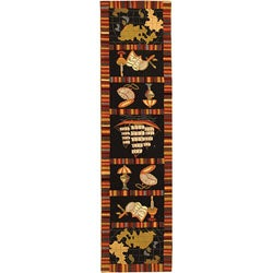 Safavieh Hand-hooked Explorer Black Wool Runner (2'6 x 12')