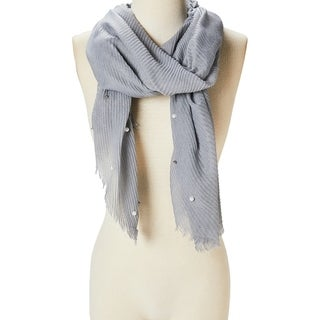 Link to Women Beautiful Fashion Scarf Viscose Shawl Wraps Scarves  Pearl Accent Lightweight Soft Girls Hair Neck Scarf - Large Similar Items in Scarves & Wraps