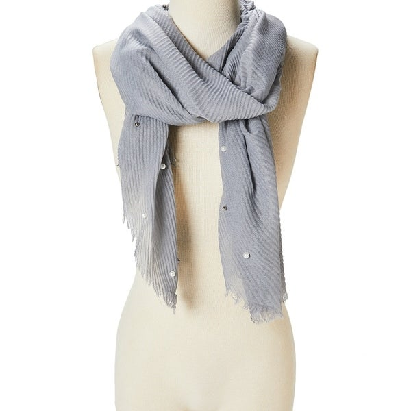 Women Beautiful Fashion Scarf Viscose Shawl Wraps Scarves Pearl Accent Lightweight Soft Girls Hair Neck Scarf - Large. Opens flyout.