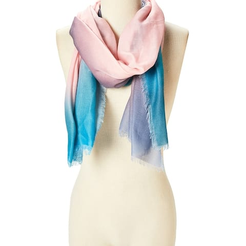 Women Ladies Viscose Scarf Shawl Scarves Wraps Girls Beautiful Ombre Soft Summer Hair Neck Stole - Large