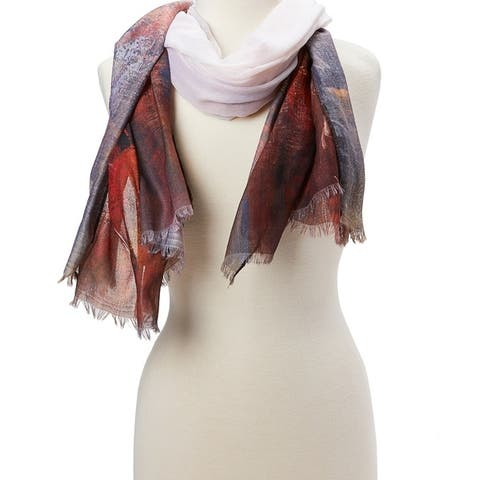 Women Beautiful Scarf Fashion Viscose Shawl Wraps Scarves Ladies Girls Soft Stole Lightweight Scarfs - Large