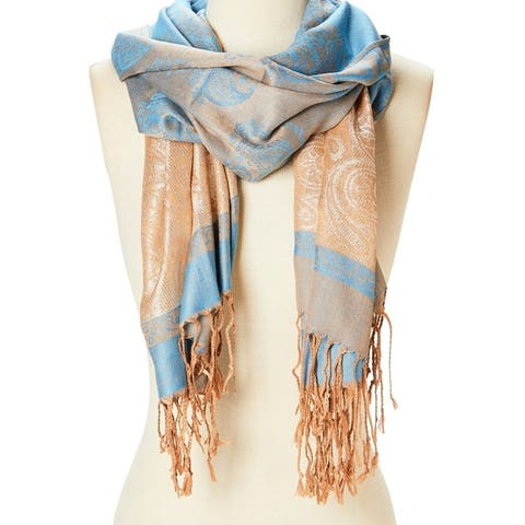 Women Beautiful Scarf Fashion Viscose Shawl Wraps Scarves Ladies Girls Soft Stole Lightweight Scarfs - Large