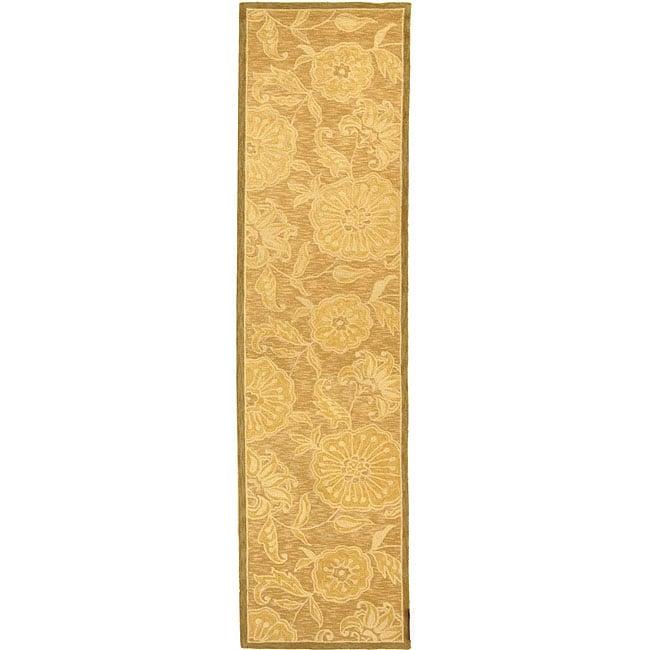 Safavieh Hand-hooked Abrashed Beige/ Light Brown Wool Runner Rug - 2'6 x 10'