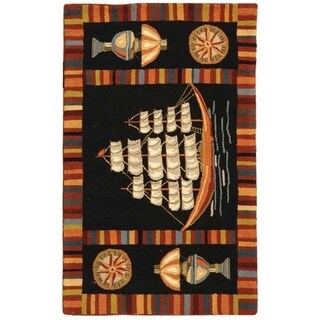 Safavieh Hand-hooked Explorer Black Wool Rug - 1'8 x 2'6