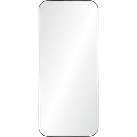 Renwil Delphinus Framed Satin Nickel Mirror - Clear - Large