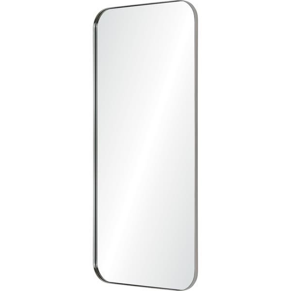 shop renwil delphinus framed satin nickel mirror clear large overstock 31226586 renwil