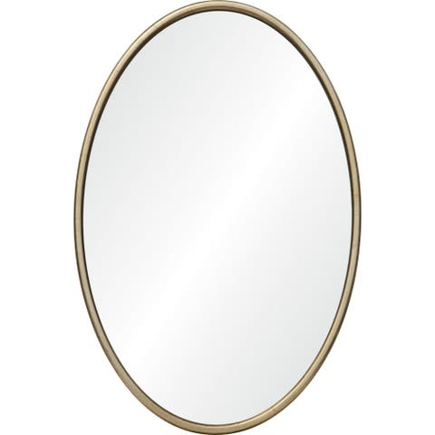 Renwil Sablon Framed Antique Brush Mirror - Clear - Large