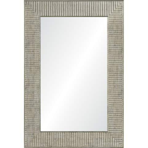 Renwil Leda Framed Antique Silver Mirror - Clear - Medium