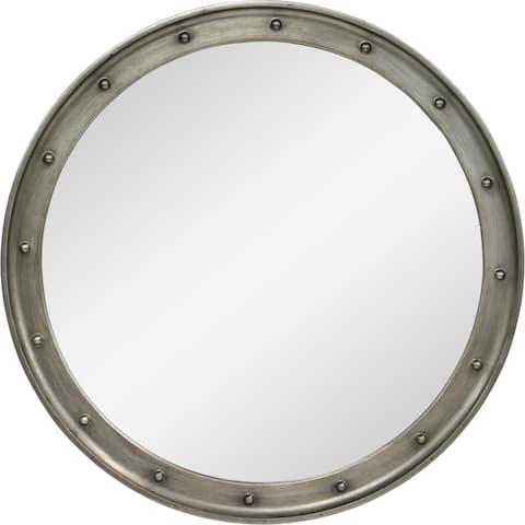 Renwil Melva Framed Antique Grey Mirror - Clear - Large