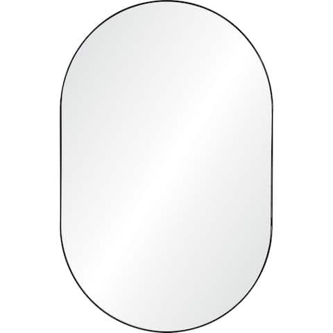 Renwil Webster Framed Black Mirror - Clear - Large