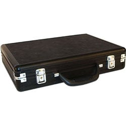Black Aluminum Gun Case with Easy-grip Handle and Removable Lower-foam - Thumbnail 1