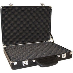Black Aluminum Gun Case with Easy-grip Handle and Removable Lower-foam - Thumbnail 2