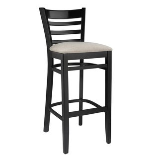 Ladderback Barstool in Black - Traditional (As Is Item)