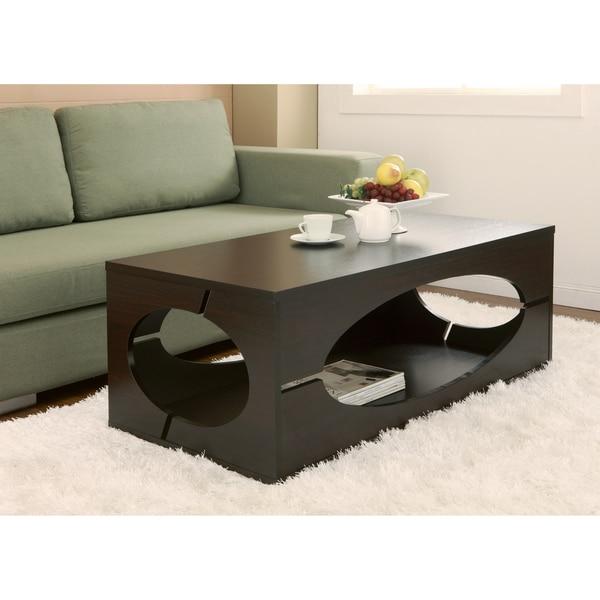 Furniture of america classic 47 inch wood brown coffee for Furniture of america architectural inspired dark espresso coffee table