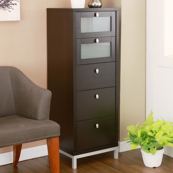 Furniture of America Five-drawer Storage Cabinet - Free Shipping ...