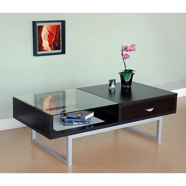 Furniture of America Contemporary 48-inch Wood Coffee Table