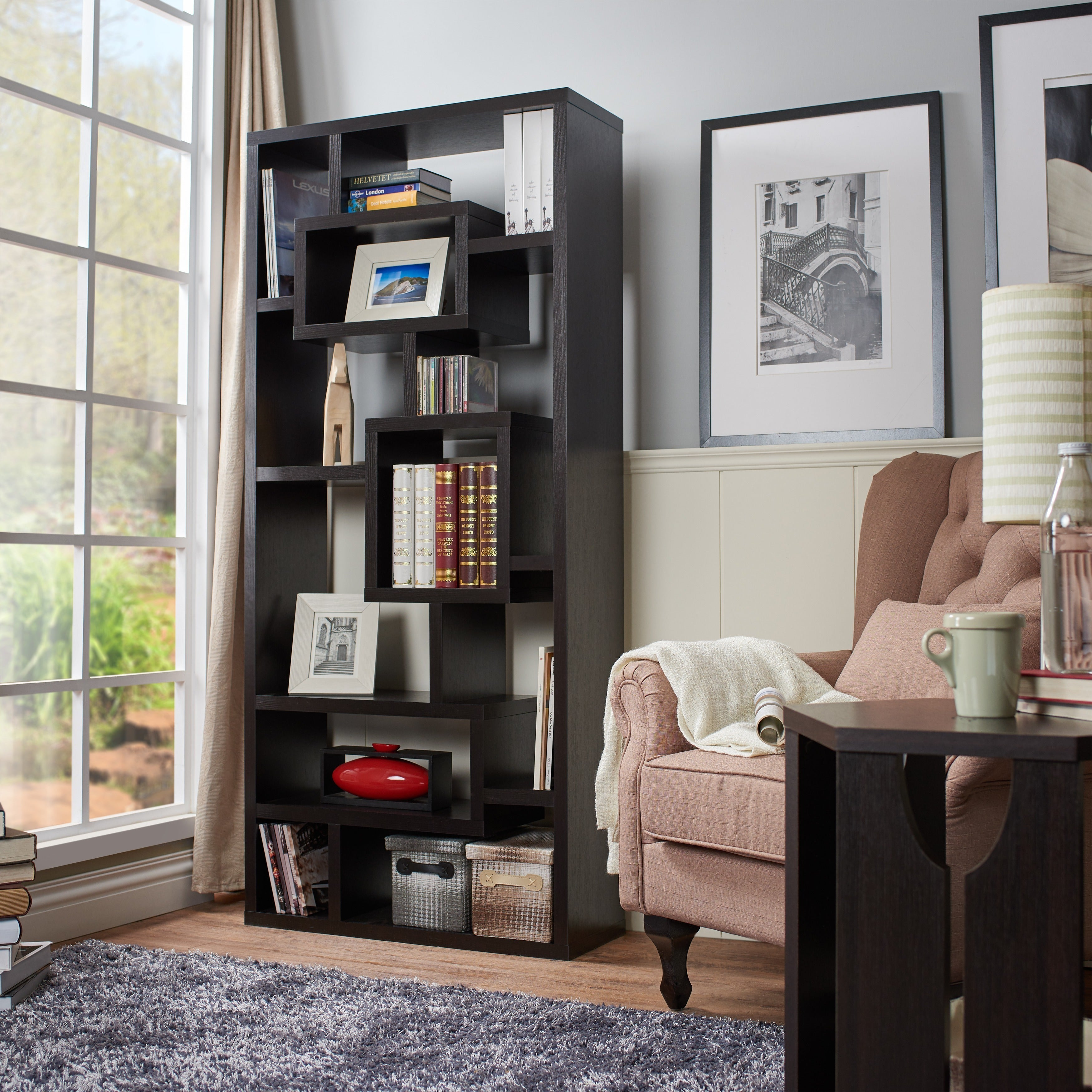 Furniture of America Tribeca Bookcase/ Display Cabinet (R...