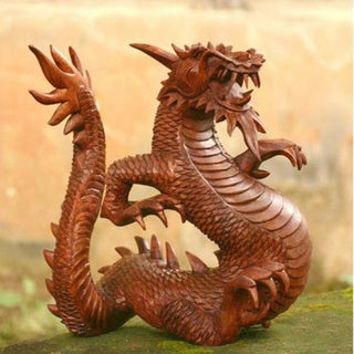 Legendary Dragon Traditional Artisan Handmade Hand Carved Home