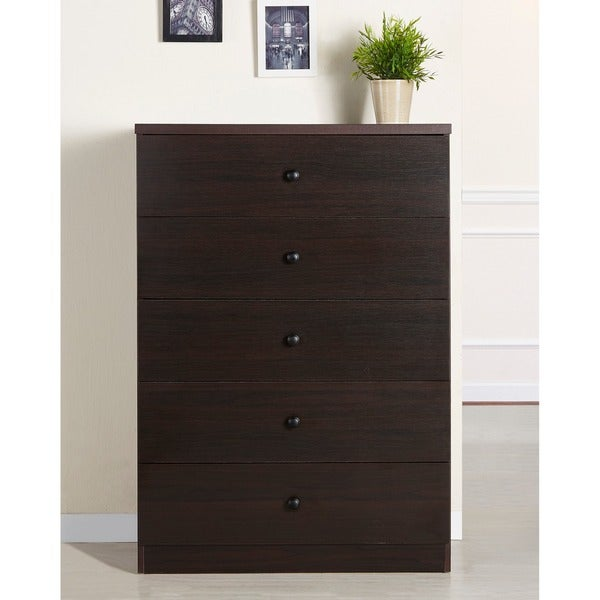 Furniture of America Modern 5-drawer Wood Chest