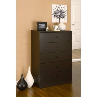 Furniture Of America Modern 5 Drawer Wood Chest