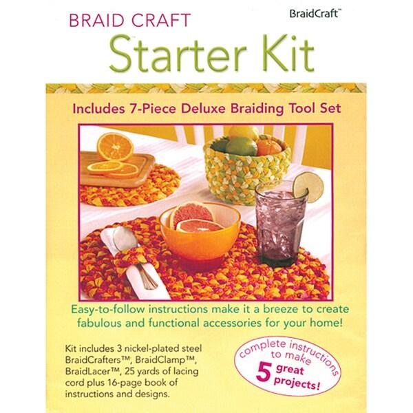 BraidCraft Starter Kit with Seven-piece Deluxe Braiding Tool Set