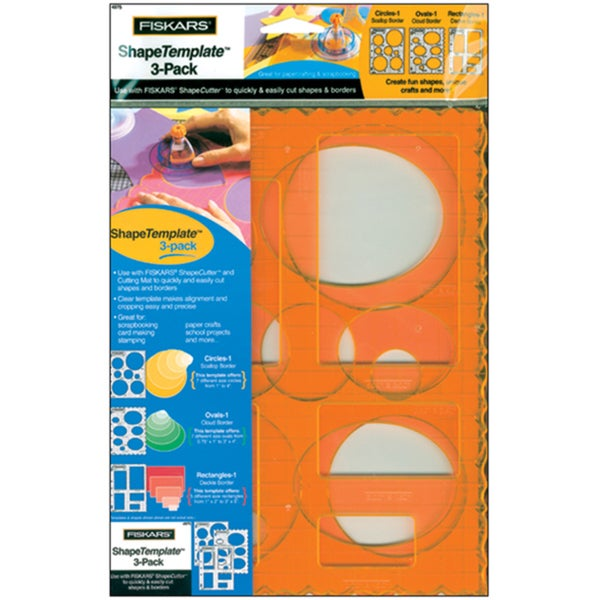 fiskars circles ovals and rectangles template pack of 3 free