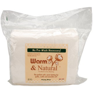 Warm and Natural White Cotton King-size Batting