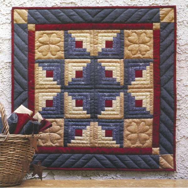Log Cabin Star Wallhanging Quilt Kit. Opens flyout.
