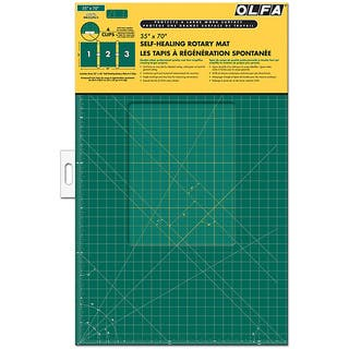 OLFA Gridded 35x70 Cutting Mat and Clips Set|https://ak1.ostkcdn.com/images/products/3128203/P11255216.jpg?impolicy=medium