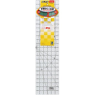 OLFA The Essential Frosted Acrylic Sewing and Crafts Nonslip Ruler