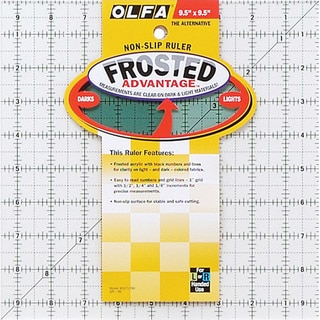 OLFA The Alternative Frosted Nonslip Ruler for Sewing and Crafts