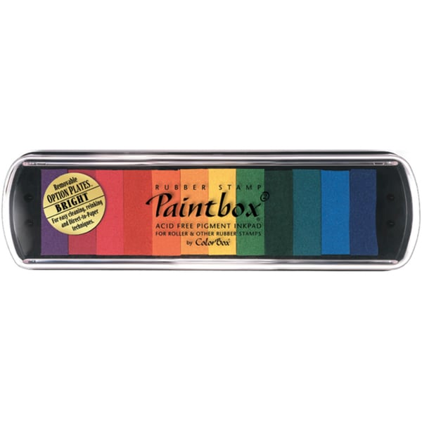 PaintBox 12-Color Non-toxic Pigment Rubber Stamp Pad by ColorBox