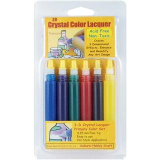 Sakura 3D Crystal Lacquer Pens (Pack of 6)