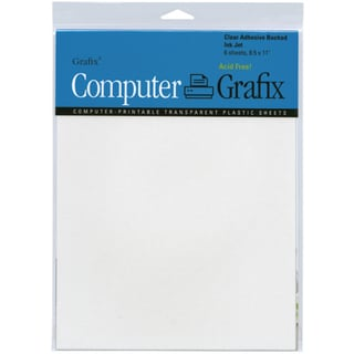 Computer Grafix 8.5x11-inch Ink Jet Adhesive Film Sheets (Pack of 6)