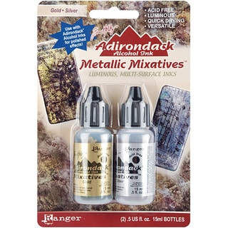 Adirondack Gold/ Silver Metallic Mixative (Pack of 2)