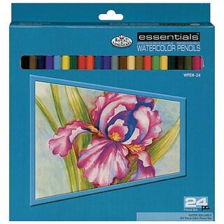 Royal & Langnickel Essentials Premium Watercolor Pencils (Set of 24)