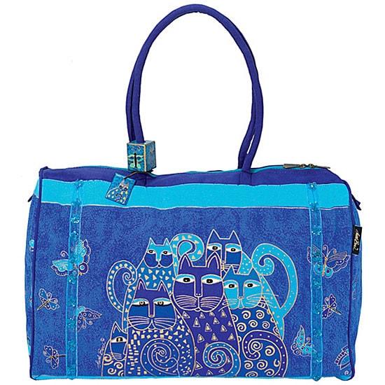 Laurel Burch Indigo Cats Arts and Crafts Travel Bag - Free ...