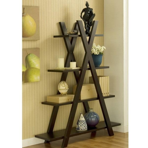 Furniture of America Coffee Bean Book Case/ Display Shelf